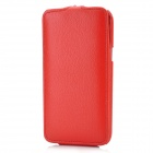 Protective Top Folio Open PU Leather Case for Samsung Galaxy Note 2 N7100 - Red