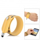 KTWO Leopard Pattern Wristband Capacitive Screen Stylus - Yellow