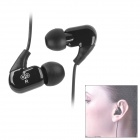 Jabees WE102M Fashion In-Ear Stereo Earphones w/ Microphone - Black (3.5mm-Plug / 120cm-Cable)