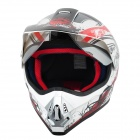 Fashion Tanked 340 Outdoor Sports Racing Helmet - Black + White + Red (Größe XL)