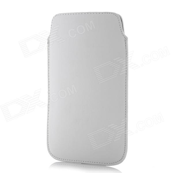 Protective Pull Tab PU Leather Case Pouch Bag for Samsung Galaxy Note 2 N7100 - White