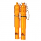 Outdoor Survival Aluminum Alloy Whistle w/ Keychain - Golden Yellow (2 PCS)