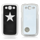 Star Pattern Protective Back Case w/ Caller Signal Flashing LED for Samsung i9300 - Black
