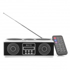 "SU-12 Tragbares Radio Stil 1,3 ""Display Stereo Media Player Speaker w / SD / FM / Antenne"