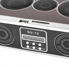 "SU-12 Portable Radio Style 1.3"" Display Stereo Media Player Speaker w/ SD / FM / Antenna"