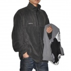 Hasky B9-2 Man's Waterproof Outdoor Jacket + Fleeces Warm Liner Suit - Grey (Size XL)