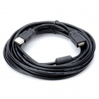USB2.0 PC + ABS Extended Transfer Cable for Camera / Printer - Black (5m)