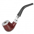 Zinc Alloy Filter Cigarette Tobacco Smoking Pipe - Brown + Black