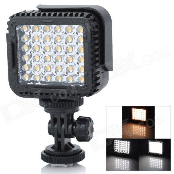 NanGuang CN-LUX360 2.2W 36-LED Video Light - Black (3 x AAA)