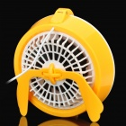 2-in-1 USB Powered 2-Mode Fan w/ 10-LED Light / Mirror - Yellow + White
