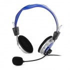 Oakorn OK-388 Stereo Headphone - Blue + Silver + Black