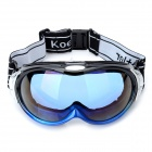 Fashion Resin Skiing Glasses / Goggles - Blue + Black + Silver