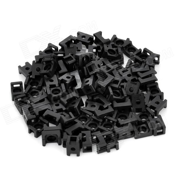 SZWASI STM-1B Wire Cable Tie Fixed Mount - Black (100 PCS)