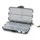 9-Compartment Fishing Gadgets Storage Box w/ Carrying Strap - Black