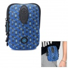 TINDO 3004 Multi-Function Neoprene Water Resistant Waist Bag w/ Carabiner Clip - Deep Blue
