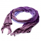 Diamond Lattice Pattern Cotton + Plush Soft Long Scarf Shawl - Purple