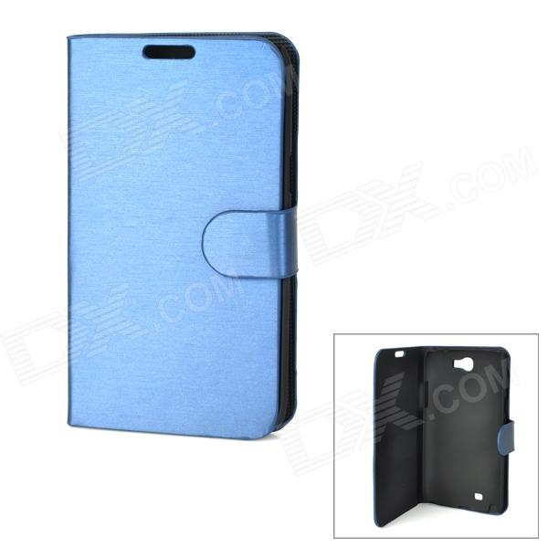 Protective PU Leather Case for Samsung Galaxy Note 2 N7100 - Blue metal ring holder combo phone bag luxury shockproof case for samsung galaxy note 8