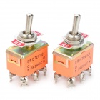 6-Pin ON-ON Toggle Switches - Orange (AC 250V / 2 PCS)