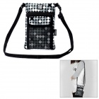 Multi-Function Neopren-Zertifikat / Card One Shoulder Bag Holder - Black + White