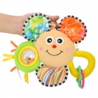 Sunflower Style Polyester Fiber Musical Doll w/ Ring - Yellow + Green