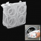 New Net Shaped Nylon + Foam Wash / Laundry Shoe Bag - White