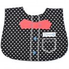 Spot Tie Pattern Baby Cotton Saliva Towel - Black + White + Red