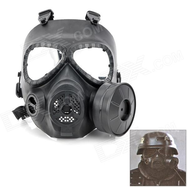 Skull Style Gas Mask for Outdoor War Games - Black tactical skull face mask military field us active duty m50 gas mask cs field skull mask for hunting paintball