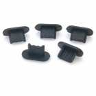 Anti-dust Dock Plug Stopper for Iphone 5 - Black (5 PCS)