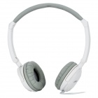HX030 Fashion Folding Stereo Headphone - White + Grey