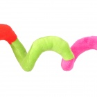 Plush Baby Snake Toy with Suction Cup - Multi-Color