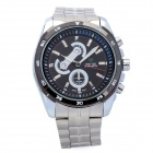 WEIDE WH1112 Sport Stainless Steel Analog Quartz Wrist Watch for Men - Silver (1 x SR626)