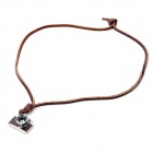 Punk Stil Modern Kamera Theme Design Cow Leather Necklace - Brown