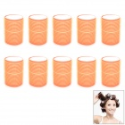 Sponge Hair Rollers Set - Orange (10 PCS)