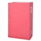 Disguised Dictionary Book Style Safe Home Security Cash Box - Red Violet