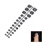 24-in-1 Electroplating ABS Fake Toenail Set - Black