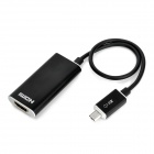 Micro USB Male to HDMI MHL HDTV Adapter for Samsung S3 i9300 - Black (25cm-Cable)