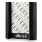 "Akasa AK-MX-010 Aluminum Alloy 2.5"" SSD / HDD to 3.5"" Drive Rack Bracket Mounting Kit - Black"