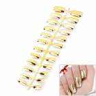 24 - in - 1 Galvanointi ABS Artificial Nail Set - Golden