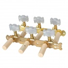 William Tri-Heads Gold Plated Classical Guitar String Tuning Pegs Tuners - Golden (2 PCS)