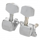 William Half Closed Iron Guitar String Knob Tuner - Silver (Pair)