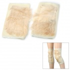 Goat Wool Thicken Knee Warmer Support - Ivory (2 PCS)