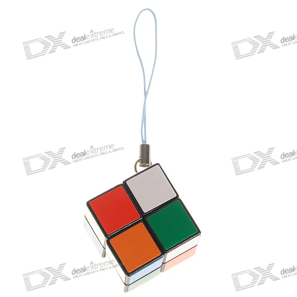 Mini 2x2x2 Brain Teaser Magic IQ Cube Keychain (5-Pack)