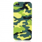 Camouflage Pattern Protective Plastic Hard Back Case w/ Screen Protector for Iphone 5 - Colorful