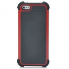 Fashion Protective Plastic + Silicone Back Case for iPhone 5 - Red + Black