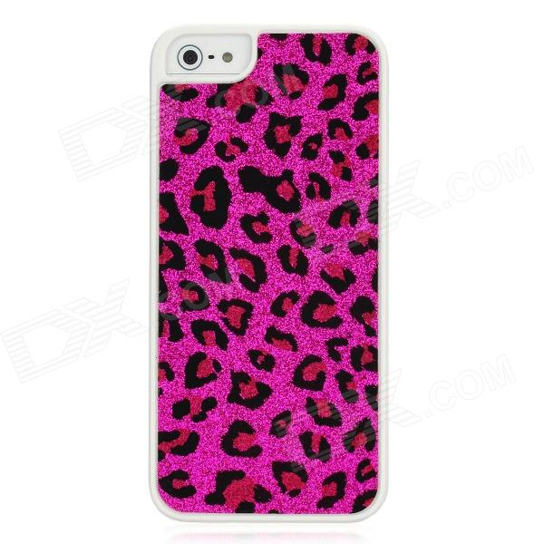 Panther Print Sticker Style Protective Plastic Back Case for Iphone 5 - Red 1more super bass headphones black and red
