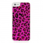 Panther Print Sticker Style Protective Plastic Back Case for Iphone 5 - Red