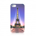 Noctilucent Eiffel Tower Pattern Protective ABS Hard Back Case for Iphone 5 - Colorful