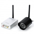 5.8GHz 300mW Wireless Receiver with 24-LED IR Camera Kit - Silver + Black