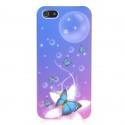 Noctilucent Exquisite Butterfly Pattern Protective ABS Hard Back Case for iPhone 5 - Colorful
