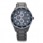 SINOBI 9411 Stainless Steel Quartz Band Analog Waterproof Wrist Watch - Black (1 x LR626)